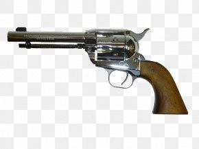 Western Pistol - American Frontier Colt Single Action Army Case-hardening Revolver Pistol PNG