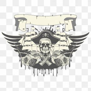 Skull Wings Vector Military Pattern - Piracy Royalty-free Illustration PNG