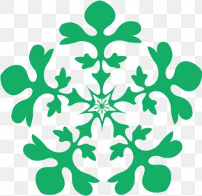 Plant Symmetry - Snowflake Winter Christmas PNG