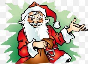 Hand-painted Santa Claus Cartoon Pattern - Ded Moroz Snegurochka New Year Anecdote Olivier Salad PNG