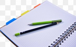 Pen And Notebook - Paper Pencil Notebook Fountain Pen PNG