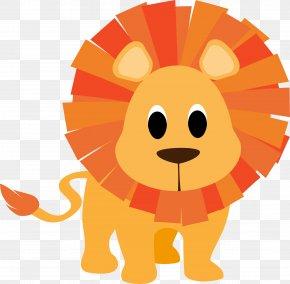 Yellow Lion - Baby Jungle Animals Giraffe Cartoon Drawing Clip Art PNG