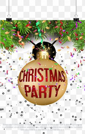Flash Christmas Party Invitations - Christmas Ornament Party PNG
