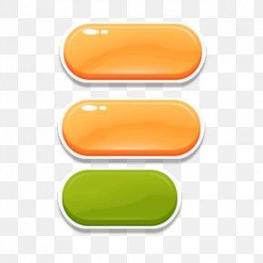Orange Games Crystal Button - Button Quartz Download Icon PNG