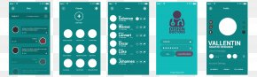 Green UI Prototype Interface Map - Graphical User Interface Graphic Design Prototype PNG