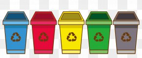 Trash Can - Recycling Bin Waste Container Cartoon PNG