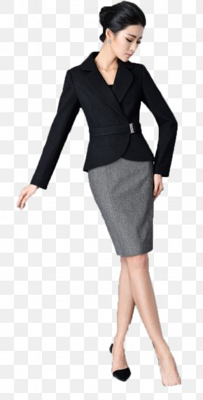 Female Suits - Suit Woman White-collar Worker Skirt Little Black Dress PNG