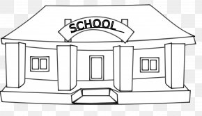 White Building Cliparts - School Black And White Escuela Clip Art PNG
