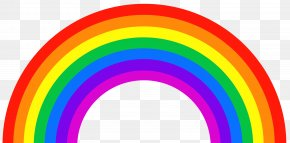 Rainbow Clipart Picture - Rainbow Color ROYGBIV Light Orange PNG