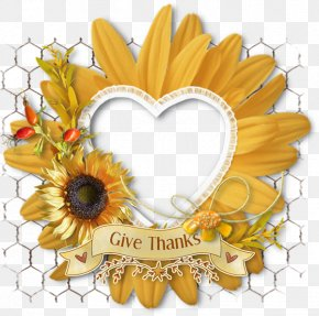 Love Sunflower Decorative Frame - Picture Frame Clip Art PNG