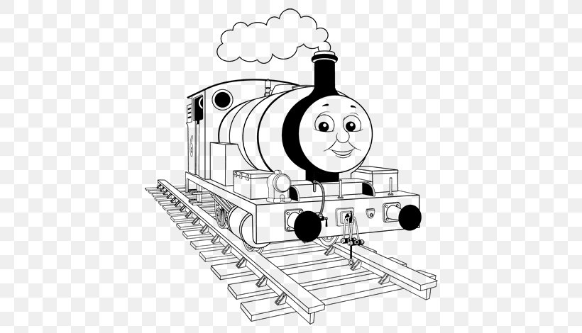 - Thomas Train Drawing Coloring Book Rail Transport, PNG, 600x470px, Thomas,  Black And White, Child, Coloring Book,