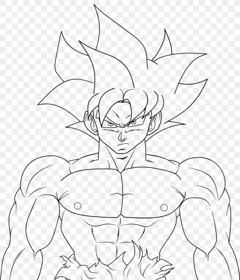 Line Art Goku Vegeta Drawing Super Saiyan Png 827x966px