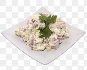 Salad - Olivier Salad Shashlik Hamburger Dish PNG