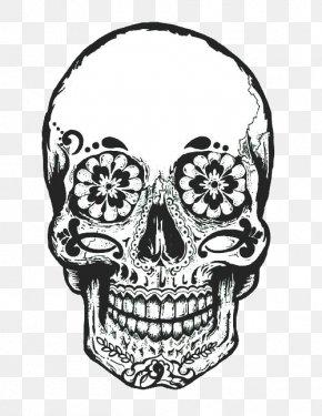 Skull Cap - Calavera Day Of The Dead Drawing Skull Clip Art PNG