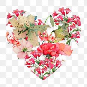 HEART FLOWER - Flower Heart Valentine's Day PNG