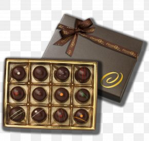 Chocolate Box - Mozartkugel Chocolate Truffle Ganache Bonbon Praline PNG