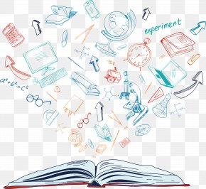 The Background Of The Knowledge In The Book - Paper Text Illustration PNG