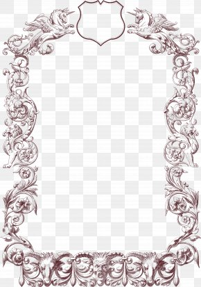 Line Art Picture Frame - Picture Frame PNG