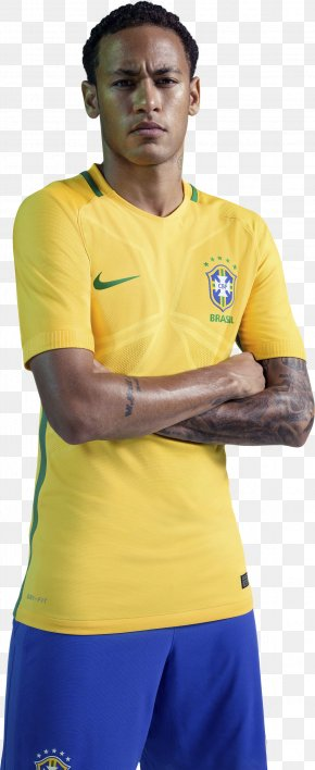 Neymar - Neymar 2018 World Cup Jersey Brazil National Football Team T-shirt PNG