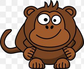 Baby Monkey - Ape Chimpanzee Primate Vector Graphics Clip Art PNG
