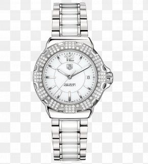 Tag Heuer Watches Female Form Silver Watch - TAG Heuer Watch Quartz Clock Diamond Luneta PNG