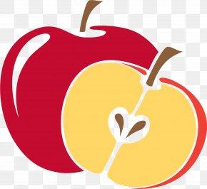Red Cartoon Apple - Apple Cartoon Clip Art PNG