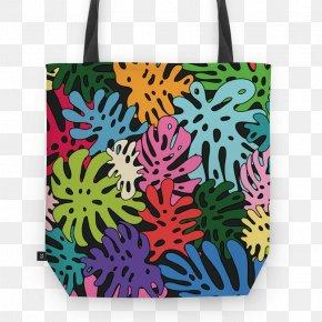Monstera - Paper Green Bag Cushion Adhesive PNG