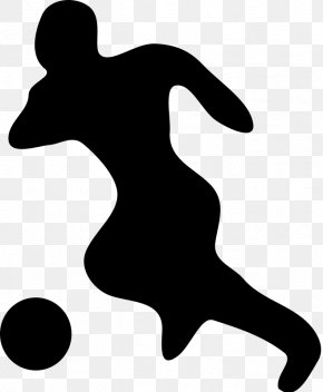 Soccer Vector - Football Player Silhouette Clip Art PNG