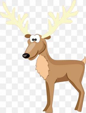 Reindeer - Reindeer Santa Claus Animal PNG