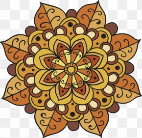Autumn Retro Pattern - Floral Design Visual Arts Cut Flowers Pattern PNG