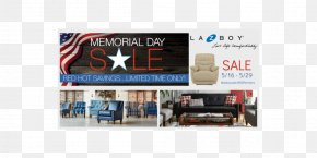 Memorial Day Sale - La-Z-Boy Brand Sales Display Advertising PNG