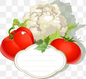 Vector Label Cauliflower - Vegetable Fruit Capsicum Annuum Tomato PNG