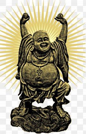 Immeasurable Laughing Buddha Vector - Buddhism Standing Buddha Budai Illustration PNG