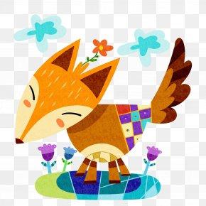Cartoon Sticker Fox - Canidae Sticker Clip Art PNG