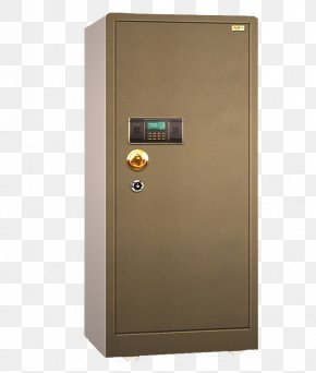 Household Electronic Fingerprint Safe Deposit Box - Fingerprint Lock Safe PNG