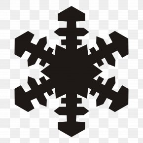 Snowflake Silhouette Cliparts - Snowflake Black And White Clip Art PNG