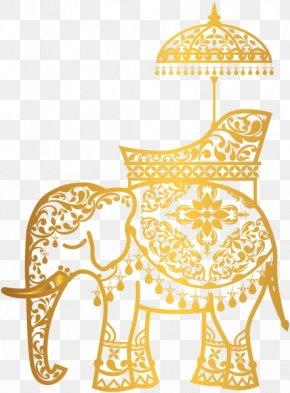 Elephant Gold - Indian Elephant Clip Art PNG