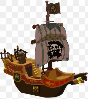 Pirate Ship - Piracy Clip Art PNG