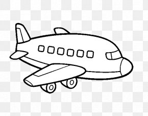 Aeroplane Coloring - Airplane Drawing Coloring Book Helicopter Airliner PNG