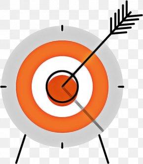 Archery Wall Clock - Target Archery Clock Circle Wall Clock Archery PNG