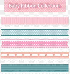 Pink Lace Border - Paper Ribbon Pink Lace PNG