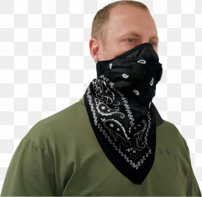 Gas Mask - Handkerchief Mask Respirator Scarf PNG