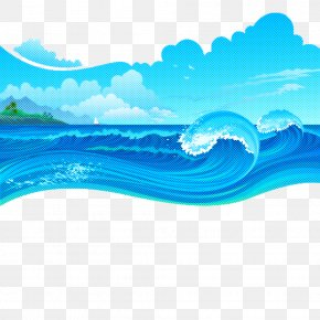 Sea Turquoise - Wave Water Aqua Blue Wind Wave PNG