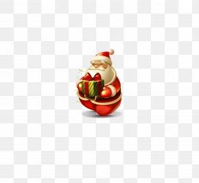 Santa Claus Gift - Santa Claus Reindeer Gift Christmas PNG