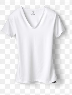White T-shirt - T-shirt Sleeve Clothing Neckline PNG