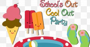 Year-end Big Promotion - School's Out Party Clip Art PNG