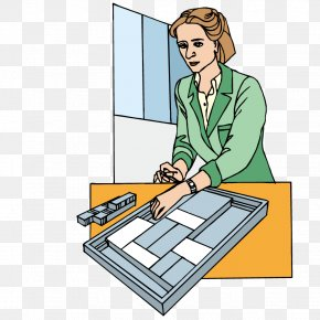 Woman Collating Information - Data Woman Euclidean Vector PNG