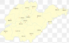 Shandong Province Vector Map - Map Yellow Land Lot Ecoregion PNG
