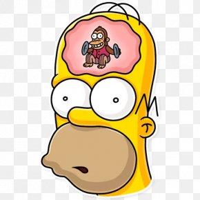 Homer Ribbon - You Like This Sticker Telegram Clip Art Homer Simpson PNG