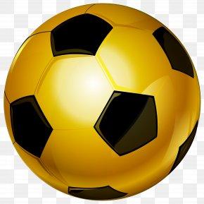 Gold Soccer Ball Clip Art Image - Football Clip Art PNG